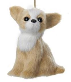 Plush Dog Ornament - Chihuahua - By Kurt Adler