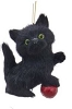Plush Cat Ornament - BLACK - By Kurt Adler