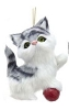 Plush Cat Ornament - GREY - By Kurt Adler