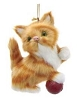 Plush Cat Ornament - ORANGE - By Kurt Adler