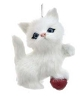 Plush Cat Ornament - WHITE - By Kurt Adler