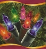 50 Christmas Tree Lights - MULTI - click re vintage ornaments