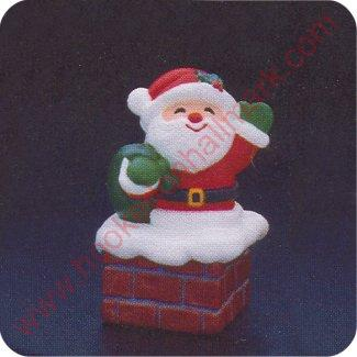 1984 Santa - Merry  Miniature Container