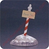 1994 North Pole Sign - Merry Miniature