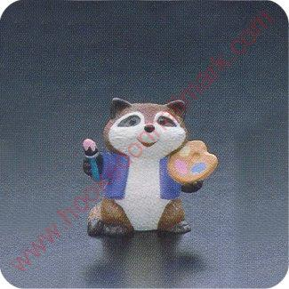 1990 Artist Raccoon - Merry Miniature