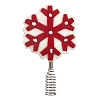 2020 Miniature Snowflake Tree Topper - Red & Cream Felt