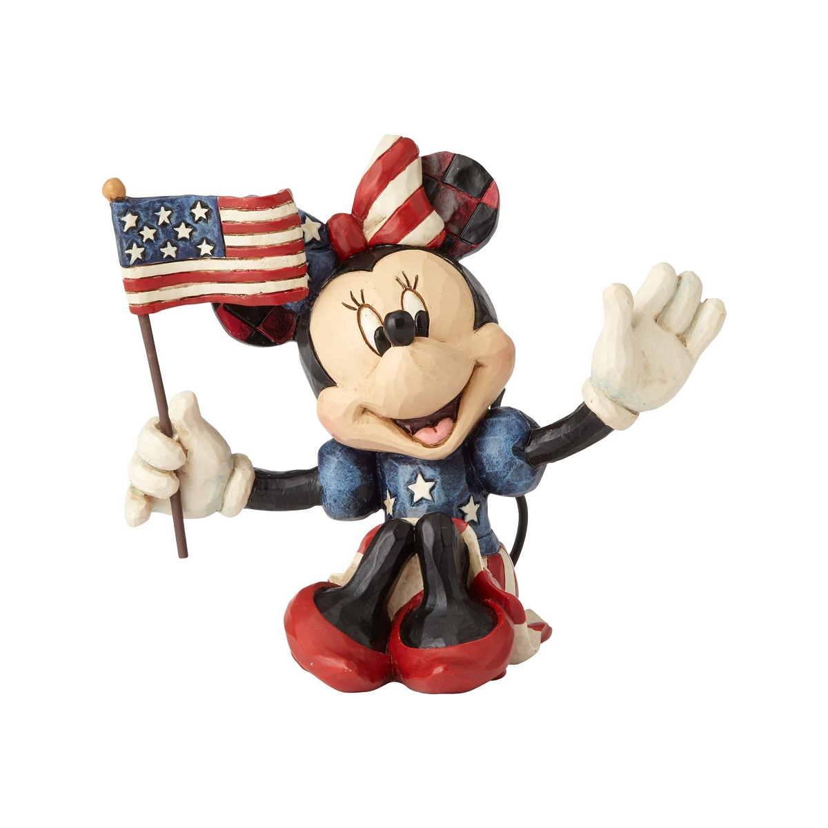 Patriotic Minnie Mouse Figurine - Jim Shore Disney Traditions