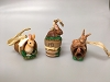 2001 Natures Sketchbook Set of 3 Garden Bunnies - RARE