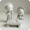 Mary, Joseph, and Baby Jesus - Porcelain Bisque