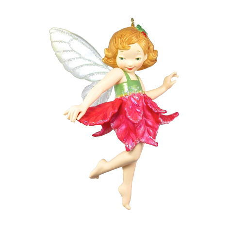 2005 Fairy Messengers 1 Poinsettia Fairy Hallmark