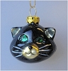 2002 Halloween, Blown Glass Black Cat