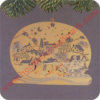 1982 Brass Promotional Ornament - Sleigh Ride