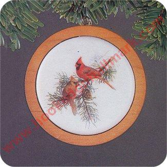 1982 Holiday Wildlife #1 - Cardinals - Slightly Damaged Box