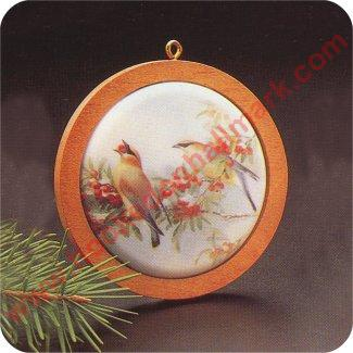 NEW Hallmark Ornament Cedar Waxwing 1986 The Holiday Wildlife Series QX3216