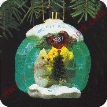 1987 First Christmas Together, Lighted Igloo