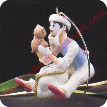 1987 Christmas Time Mime w/ base