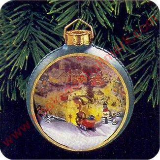 1998 St Nicholas Circle - Thomas Kinkade -  Lighted