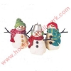 1999 Snowmen of Mitford - set of 3 - SDB