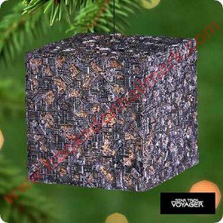 Hallmark Keepsake Magic Ornament Star Trek Voyager Borg Cube QLX7354