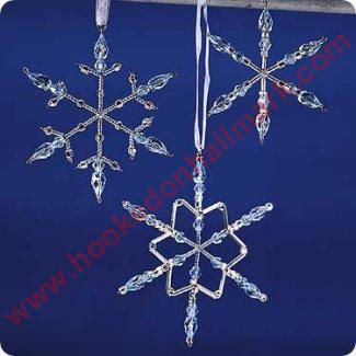 2001 Frostlight Beaded Snowflakes - Violet