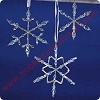 2001 Frostlight Beaded Snowflakes - Periwinkle