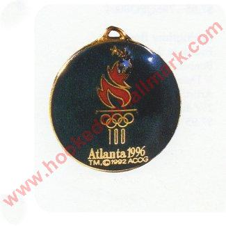 1996 Atlanta Olympic Cloisonne Medallion -  Miniature