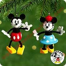 2000 Mickey and Minnie Mouse - Miniature