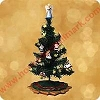 2002 Christmas Tree with Decorations - Miniature - Missing Angel