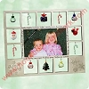 2003/2004 Tis the Season FRAME  - displays photo & 12 mini ornaments