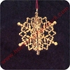 1989 Brass Snowflake - MINIATURE MIB