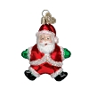 Santa - Green Gloves - Old World Christmas Blown Glass
