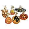 Miniature Halloween Set of 6 - Old World Christmas Blown Glass