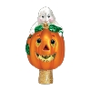 Ghost & Pumpkin TREE TOPPER- Old World Christmas Blown Glass