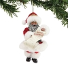 Merry Christmas Santa African/American - Possible Dreams Ornament