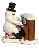 2005 Piano Playing Snowman - Plush Tabletopper - No Tags