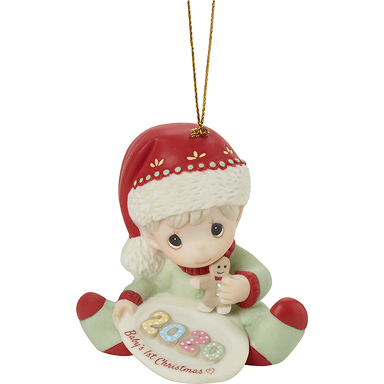 Precious Moments Babys First Christmas Ornament 2020 2020 Baby's First Christmas, Boy   Dated Precious Moments