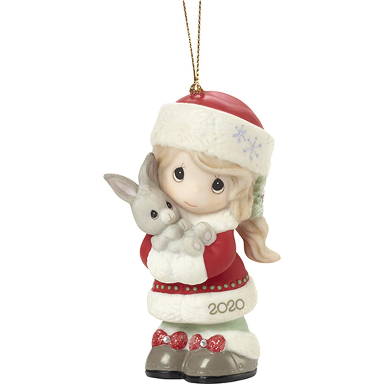 Dated Christmas Ornaments 2020 2020 Every Bunny Loves a Christmas Hug, Girl   Dated Precious
