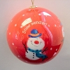 2006 Jolly Snowmen Glass Ball