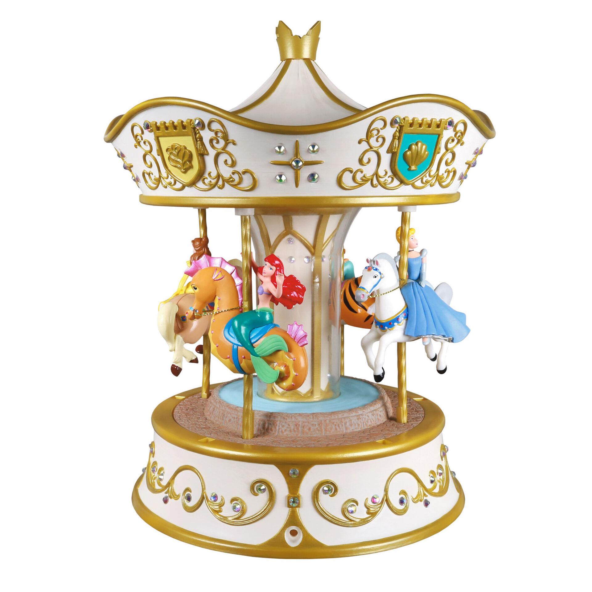 Christmas Carousel Recreation 2021 2020 Disney Princess Dreams Go Round Hallmark Christmas Ornament Hooked On Hallmark Ornaments