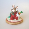 Baby Bunny with Stocking - Tender Touches Figurine