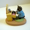 Baby Raccoon in Drawer - Mini Memories Figurine - Rare