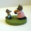Raccoons Playing Ball - Mini Memories Figurine