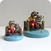Raccoons Fishing - Mini Memories Figurine - Rare - PROTOTYPE