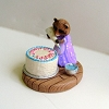 Raccoon Decorating Cake - Mini Memories Figurine - Rare