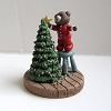 Bear Decorating Tree - Mini Memories Figurine - Rare