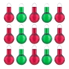 2020 MINIATURE Red and Green Ornament Set of 15