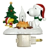 Snoopy Christmas Campfire Flickering Night Light