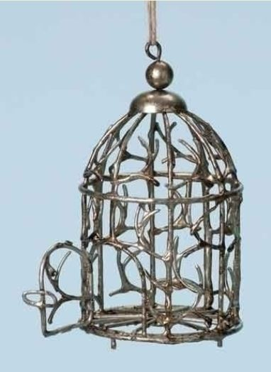 Twig Birdcage Ornament - by Roman