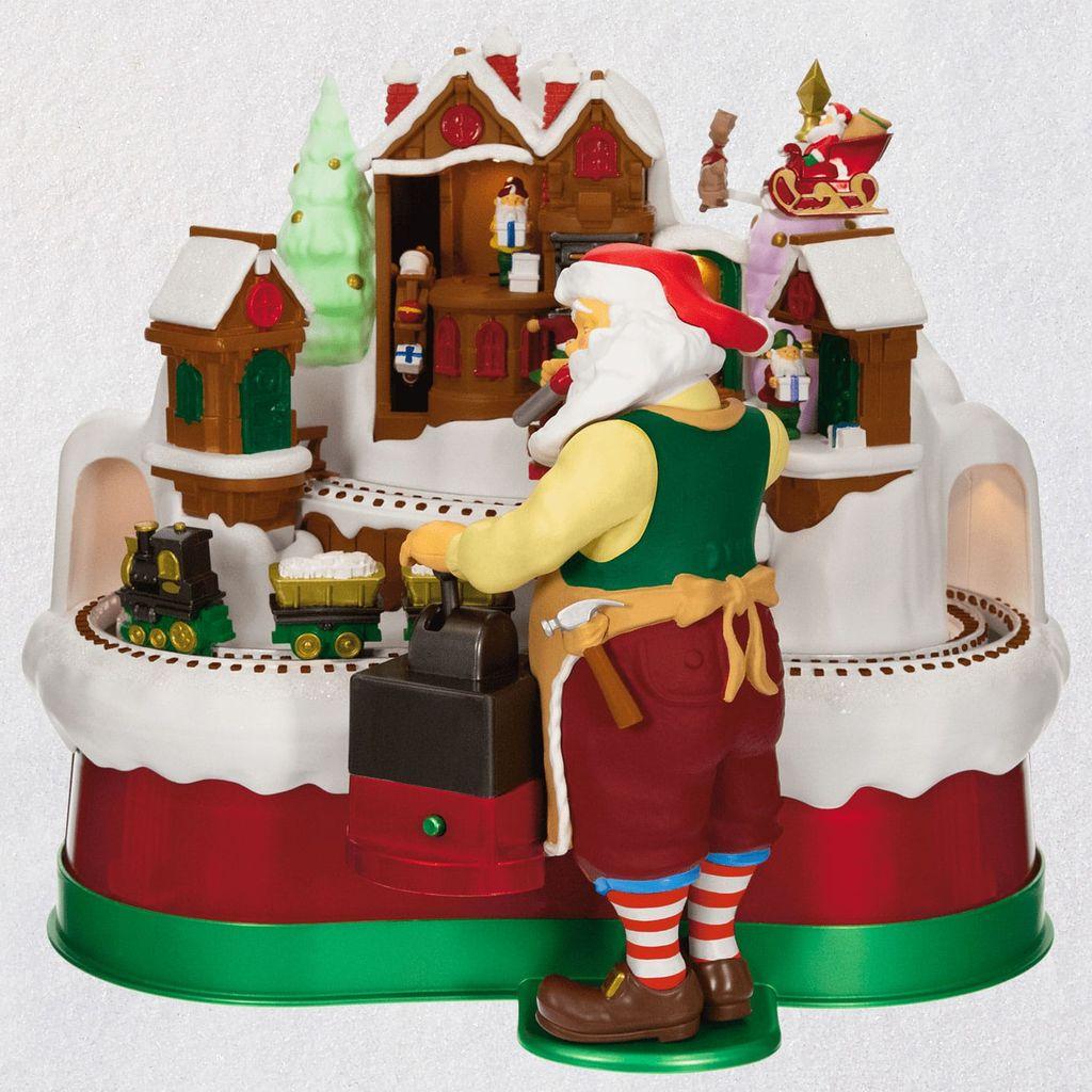 Hallmark Christmas Train 2019 2019 Santa's Magic Train Tabletop Decoration Ornament   Hooked on