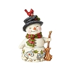 2019 Snowman Holding Broom Figurine - Jim Shore Heartwood Creek
